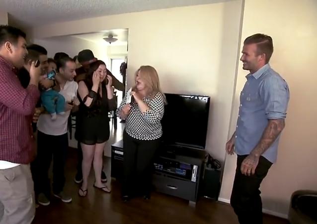 David Beckham surprises family with $100,000
