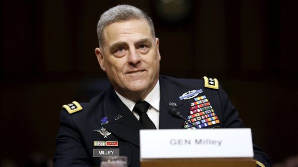 U.S. Army General Mark Milley smiles as he begins his testimony at a Senate Armed Services Committee hearing on his nomination to become the Army's chief of staff, on Capitol Hill in Washington July 21, 2015 - Sputnik International