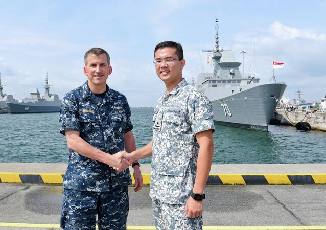 Joint-naval exercise in Singapore
