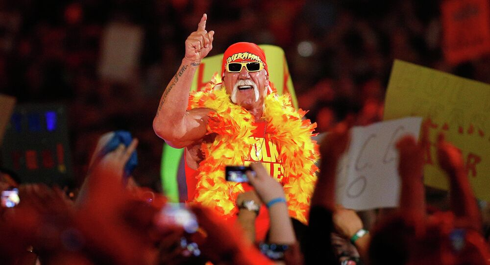 Hulk Hogan is seen during Wrestlemania XXX at the Mercedes-Benz Super Dome in New Orleans on Sunday, April 6, 2014.