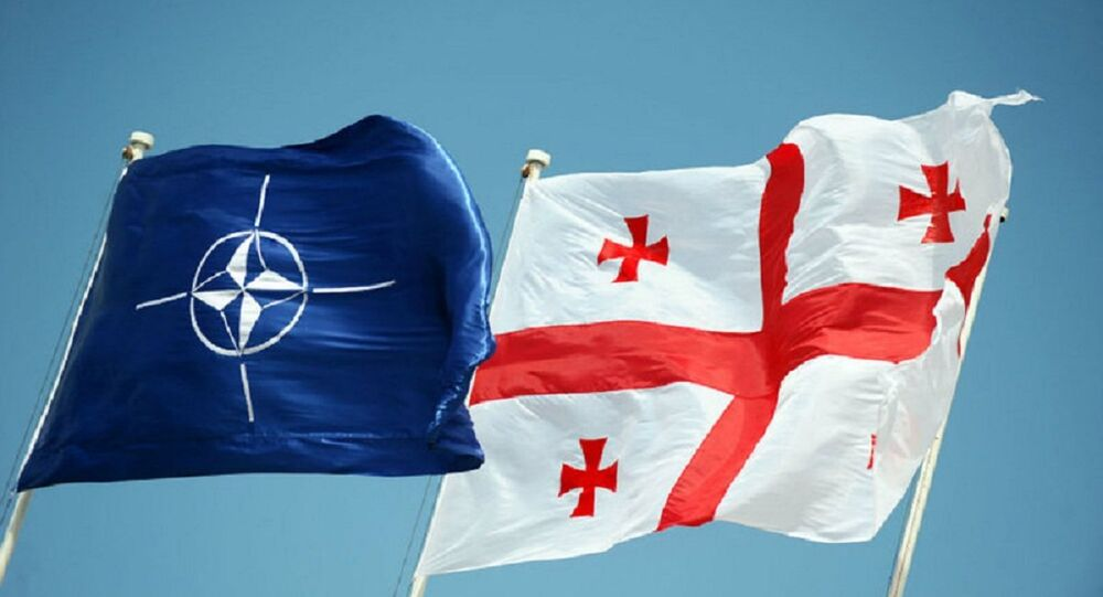 NATO and Geogrian flags