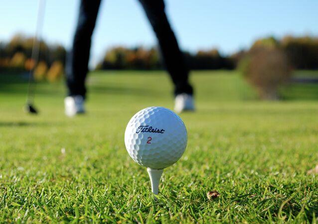 Golfing in Drobak, Akershus Fylke, Norway