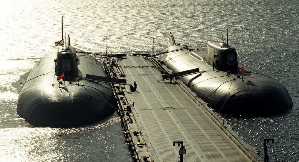 Moored nuclear-powered missile submarines