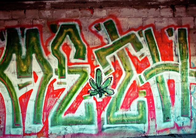 Graffiti in Detroit Michigan extolling meth