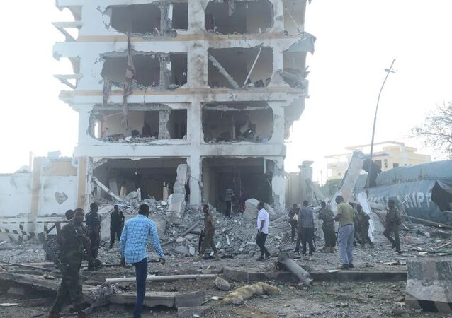 A large blast rocks the Somalian capital Mogadishu