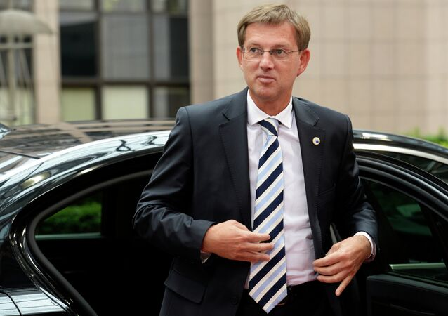 Slovenia's Prime Minister Miro Cerar arrives for a meeting of the leaders of the 19 countries that use the euro, in Brussels on July 12, 2015