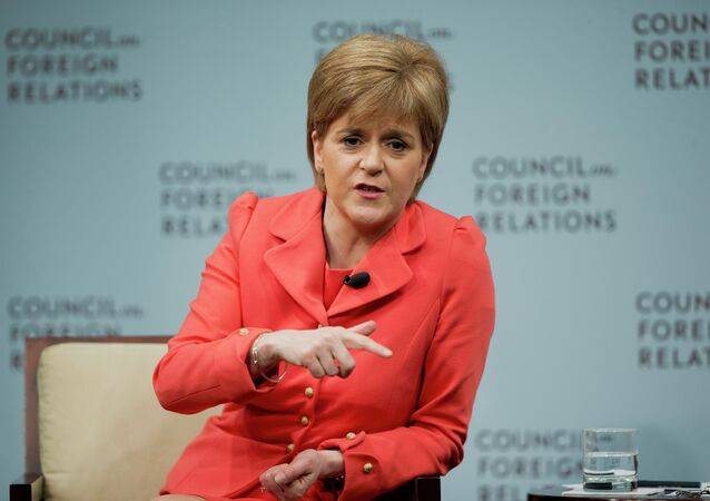 Scottish First Minister Nicola Sturgeon answers questions