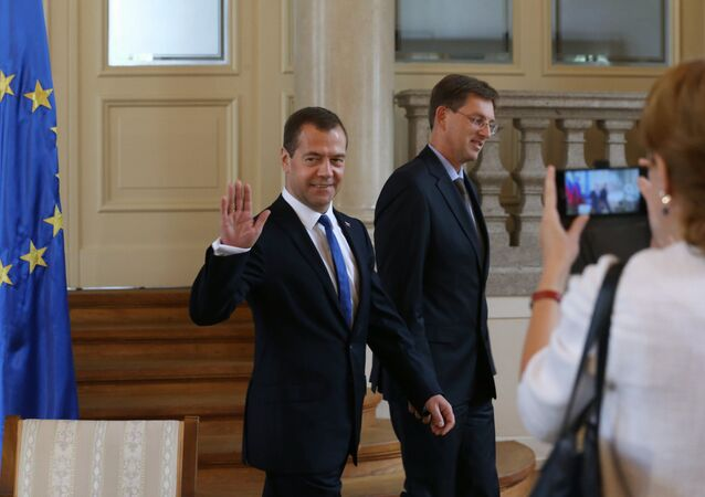 Russian Prime Minister Dmitry Medvedev visits Slovenia. Day Two