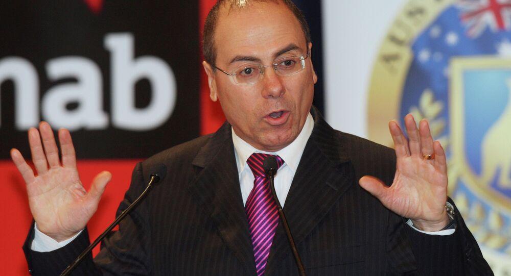 Silvan Shalom, vice prime minister of Israel, speaks in Sydney, Australia, speaks during an Australia-Israel Leadership Forum