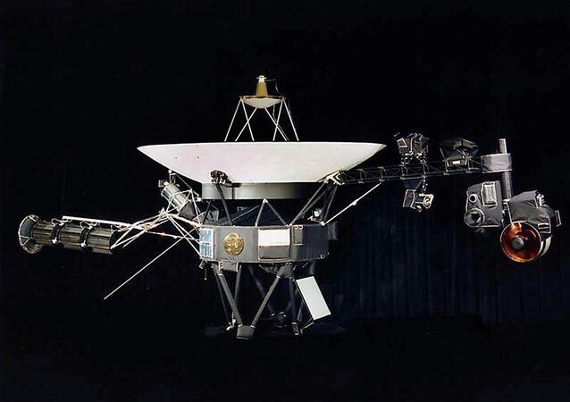 The Voyager spacecraft.