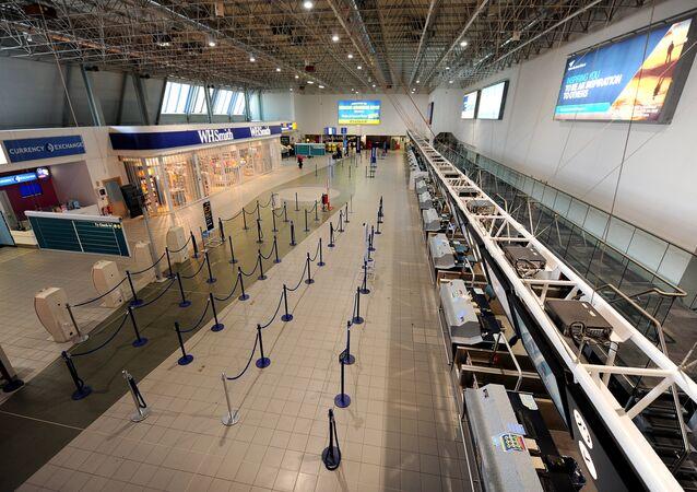 A terminal at the Birmingham International Airport