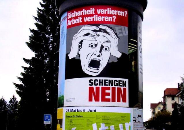 An anti-Schengen poster in Germany