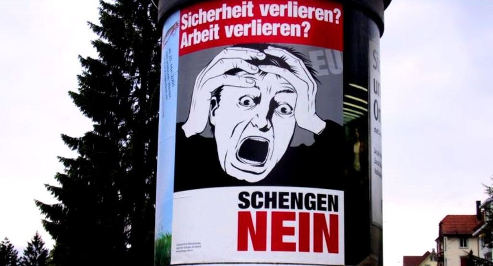 An anti-Schengen poster in Germany