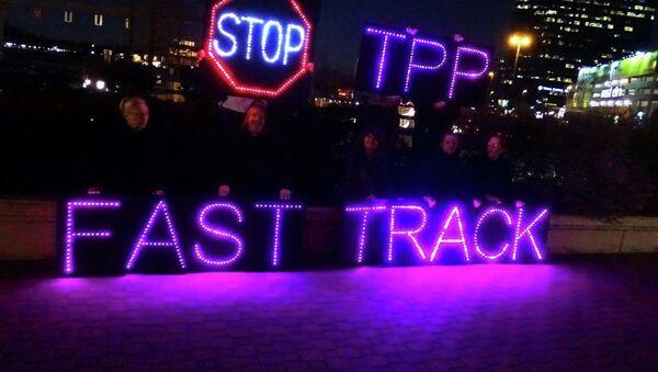 Anti-TPP protest - Sputnik International