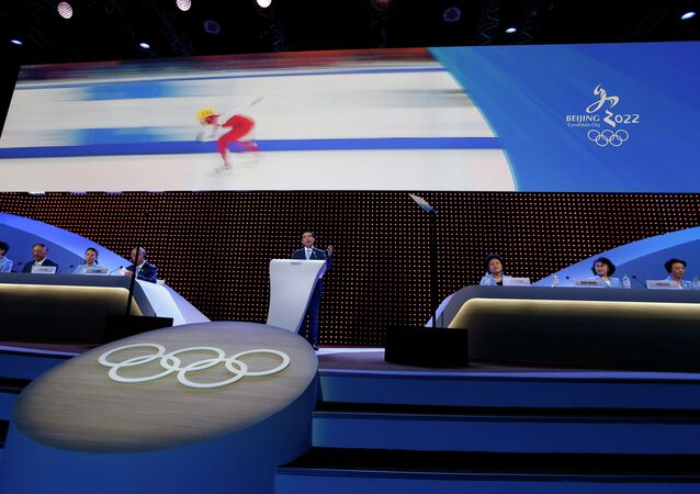Wang Anshun, Beijing mayor and president of the Beijing 2022 Olympic Winter Games Bid Committee, delivers a speech during Beijing's 2022 Olympic Winter Games bid presentation at the 128th IOC session in Kuala Lumpur, Malaysia, 31 July 2015.