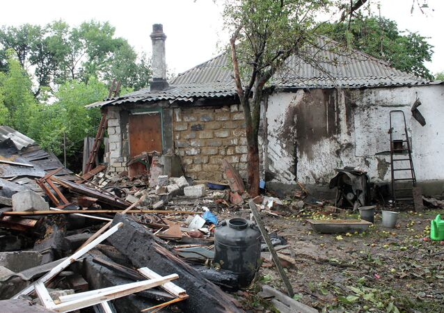 Aftermath of the shelling in Gorlovka, Donbass