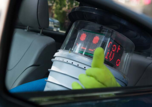 hitchBot accepts a ride