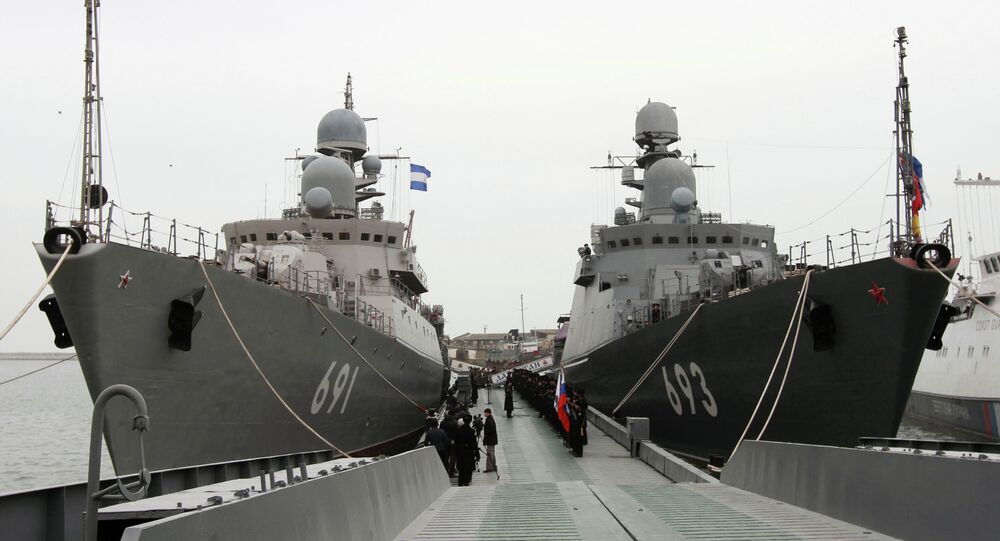 Missile ships of the Caspian Flotilla