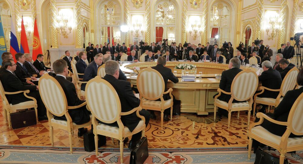 General view of the Eurasian Economic Union summit in Moscow's Kremlin, Russia. File photo