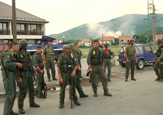 A Croatian special forces unit rest after their action in the operation named Storm, in which they retook the Croat town of Gracac 160kms (100mls) south of Zagreb , Monday August 7th 1995