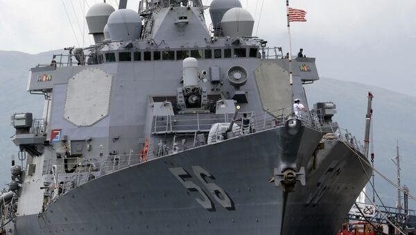 The U.S. Navy warship USS John McCain, an Arleigh-Burke class destroyer. File photo - Sputnik International