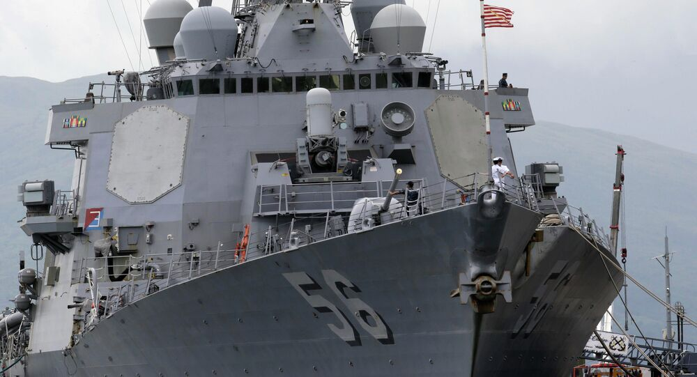 The U.S. Navy warship USS John McCain, an Arleigh-Burke class destroyer. File photo