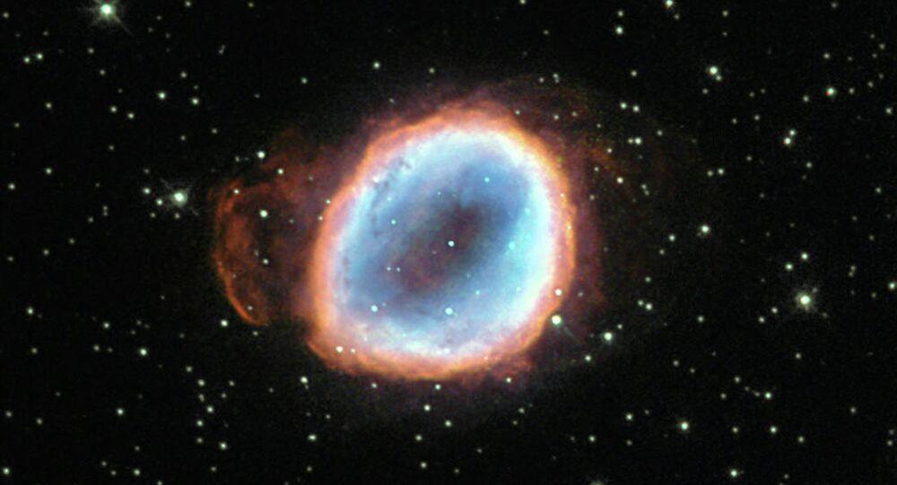 Image of Planetary Nebula NGC 656 captured by Hubble Space Telescope