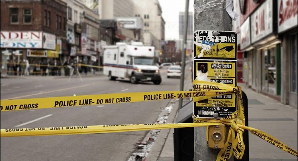 Police line, Toronto. File photo