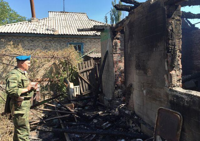 Gorlovka after shelling