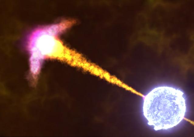 NASA animation of a gamma-ray burst.