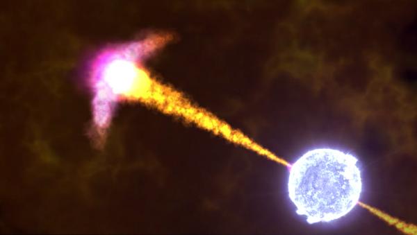 NASA animation of a gamma-ray burst. - Sputnik International