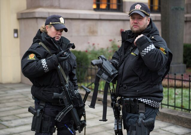 Armed police officers in Oslo. File photo