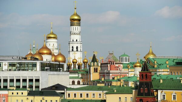 View of the Ivan the Great Belfry and the Moscow Kremlin's palaces and churches from the roof of the Lenin Russian State Library, Moscow - Sputnik International