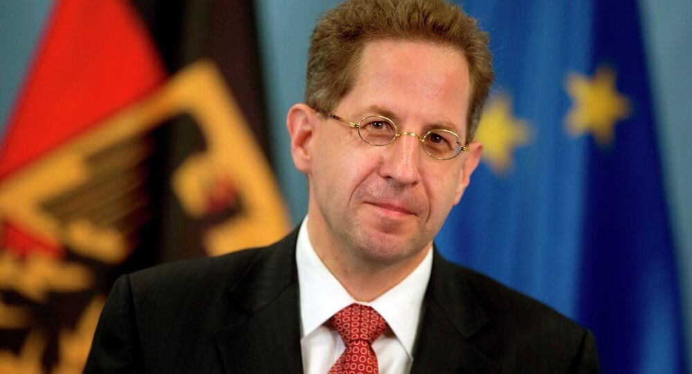 President of Germany's intelligence agency (German Verfassungsschutz), Hans-Georg Maassen, poses during a ceremony where he received the letter of appointment in Berlin, Germany, Wednesday, Aug. 1, 2012.