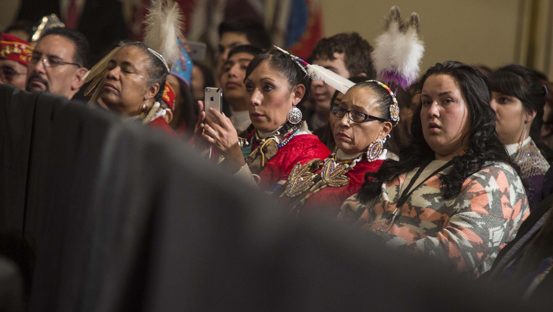 Native Americans listen to US President Barack Obama address the White House Tribal Nations Conference in Washington. (File) - Sputnik International, 1920, 29.07.2021