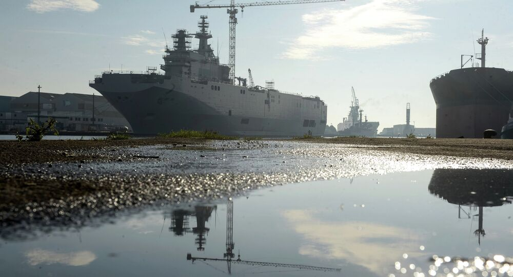 Second Mistral helicopter carrier floated out in France