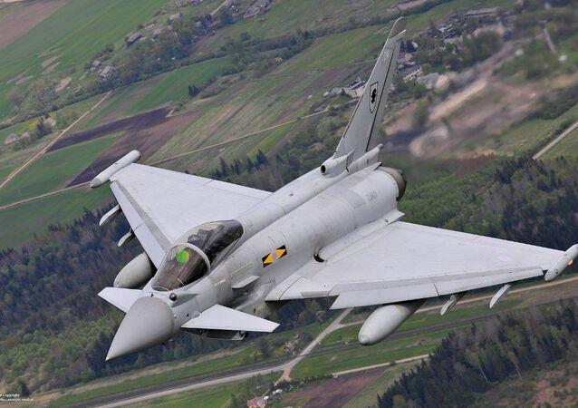 Four Royal Air Force Typhoon FGR4 aircraft