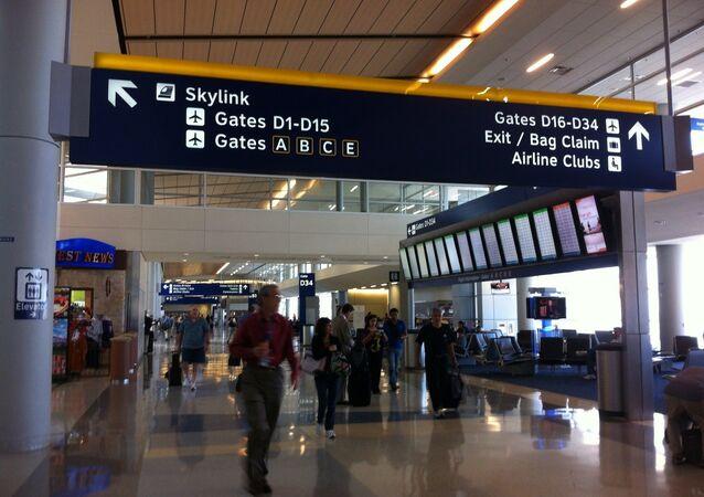 DFW airport terminal.