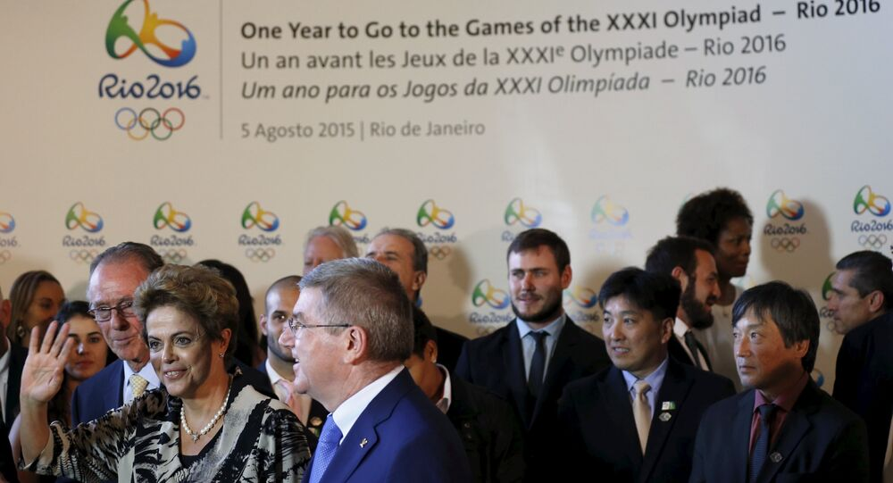 A ceremony of the one year countdown to host the Rio 2016 Olympic Games in Rio de Janeiro, Brazil, August 5, 2015.