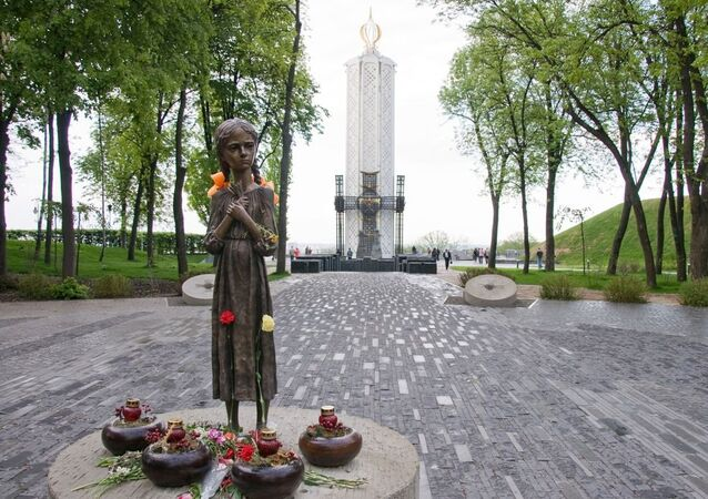 Memorial the Holodomor; 1932-1933 (death by hunger) in Kyiv, Ukraine