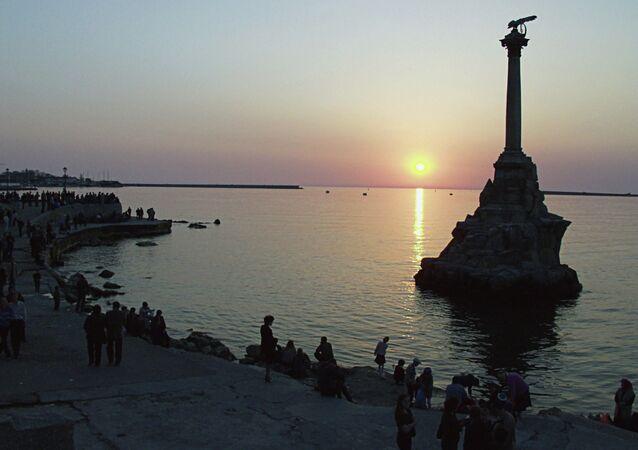 Monument to sunk ships in Sevastopol