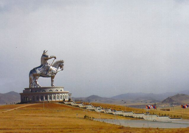 This May 1, 2015 photo shows the 40-metre (131-foot) tall Genghis Khan Equestrian Statue at the Genghis Khan Statue Complex 30 miles from Ulaanbaatar, Mongolia.