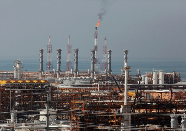 This picture taken on Wednesday, Jan. 22, 2014, shows a partially constructed gas refinery at the South Pars gas field on the northern coast of Persian Gulf in Asalouyeh, Iran