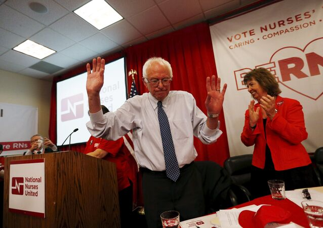 Vermont Senator and U.S. Democratic presidential candidate Bernie Sanders speaks after receiving an endorsement from the National Nurses United in Oakland, California August 10, 2015