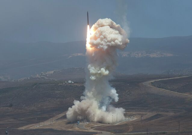 Ground-Based Interceptor launches from Vandenberg Air Force Base