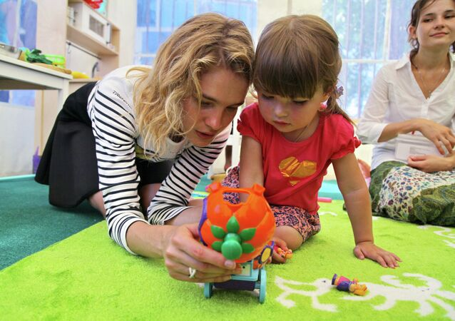 Top fashion model Natalya Vodyanova opens children's playground in Krymsk
