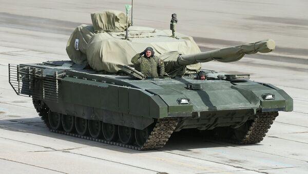An Armata heavy military tracked vehicle platform - Sputnik International