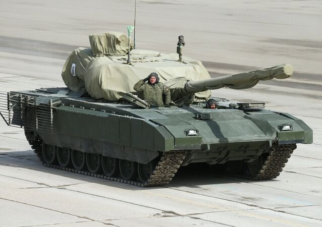 An Armata heavy military tracked vehicle platform