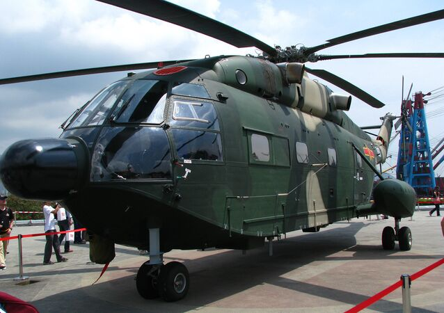 A Z-8KH helicopter of People's Liberation Army Air Force