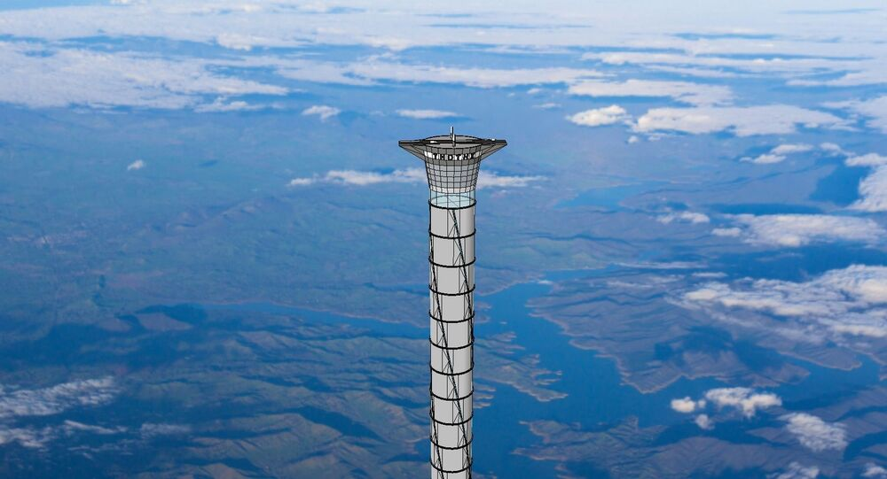 Design concept of Thoth space elevator.